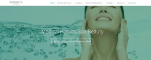 website for estheticians sample page