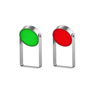 Green and Red LED Illuminate Disks